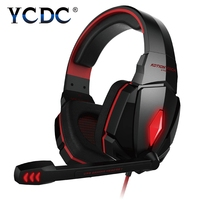 KOTION G4000 3 5mm Gaming Headphone Casque Headset Mic LED Line Controller Red Blue White