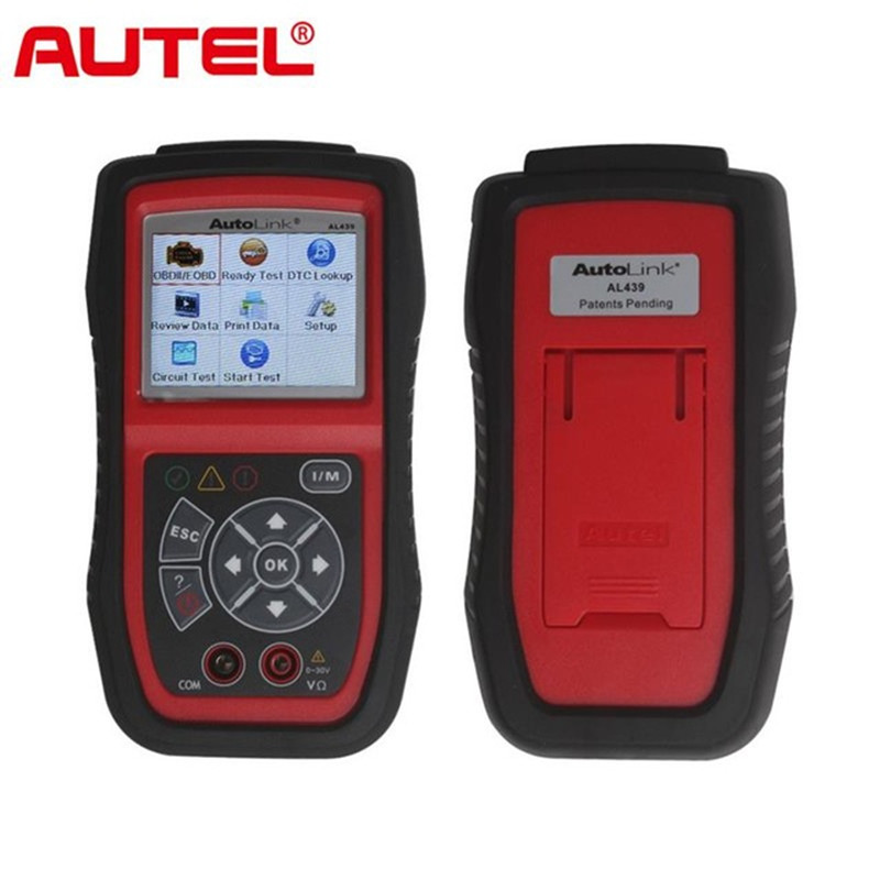 Original Autel AutoLink AL439 OBDII EOBD & CAN Scan and Electrical Test Tool OBD2 SCANNER ON SALE 100% original autel autolink al519 code reader obdii eobd can scan tool updated online autolink al519 scanner free shipping