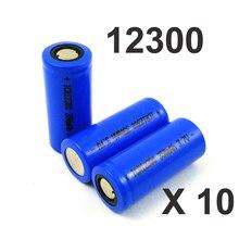 Célula de Bateria Torch e Palestrante Mah para Lanterna 10 Pcs 3.7 V Icr 12300 de Íon Lítio Recarregável 350 Led