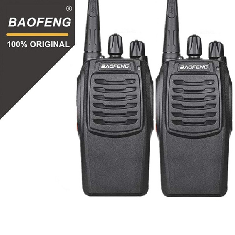 2 PZ Baofeng BF-C1 Walkie Talkie 16CH Radio A due Vie Woki Toki UHF Ham Radio Portatile 5 W Torcia Elettrica PMR Ricetrasmettitore
