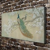 Q5 Peacock Magnolia Bird Animals Natural Scenery HD Canvas Print Home Decoration Living Room Bedroom Wall