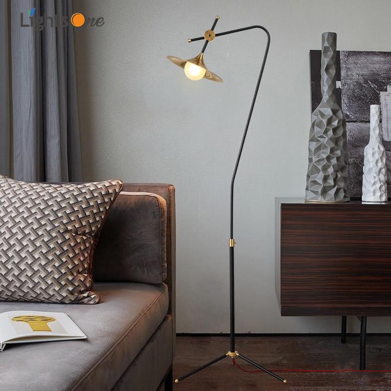 Nordic modern personality creative wrought iron floor ...