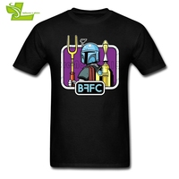 Fã Clube de 21 Anos Star Wars Boba Fett Curta Camiseta Homem manga O Pescoço T Da Equipe o Mais Novo Top Impresso Adolescente do Sexo Masculino Camisetas
