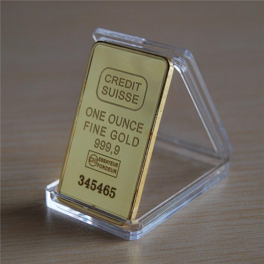 1 unze KREDIT SUISSE 24 Karat. 999 Gold Clad Bullion Bar Barren EXTREM RARE Freies verschiffen