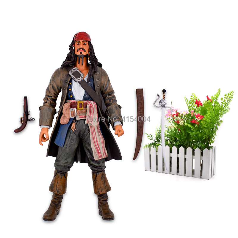 """Image 5 - 12""""30 cm Pirates Of The Caribbean Captain Jack Sparrow Jackie PVC Action Figure Articular Movable Collectible Model ToysAction & Toy Figures   -"""