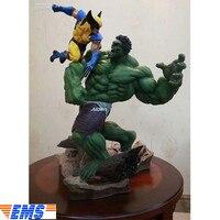 14 Avengers Infinity War Superhero Statue Wolverine VS Hulk Bust Full Length Portrait PVC Action Figure Toy BOX 36 CM Z311
