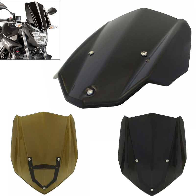 waase MT03 MT25 Motorcycle Windscreen Windshield Shield Screen with Bracket For Yamaha MT-03 FZ-03 MT-25 2015 2016 2017 2018 for yamaha mt 03 2015 2016 mt 25 2015 2016 mobile phone navigation bracket page 7