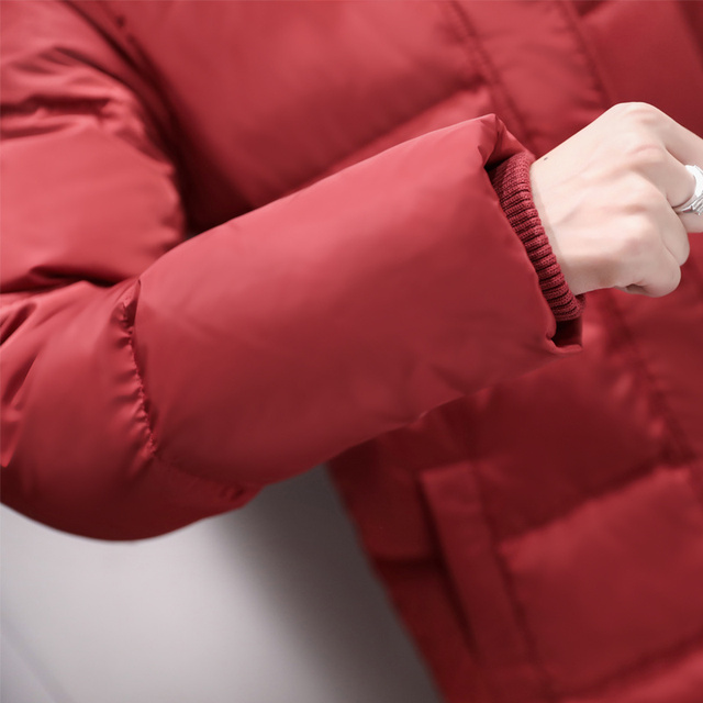Fashion Super Long Women's Down Jacket Manteau Femme Hiver Hoodies White Duck Down Winter Coat Women Parka Female Jacket C5112 5