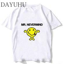efe7079d nirvana Men T-shirts O-Neck Short Sleeve Tops Funny Print T shirt Fashion