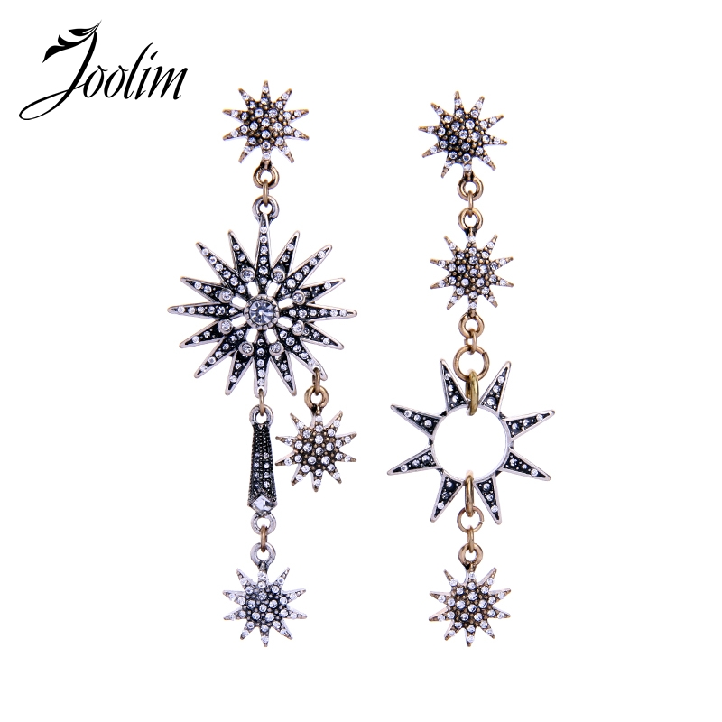 JOOLIM Jewelry Vintage Starburst Mismatching Earring High Quality Bulk Earring Wholesale High Quality high quality