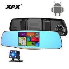 Видеорегистраторы для автомобилей XPX ZX827 регистраторы Full HD 1080p камера заднего вида Allwinner Android WI-FI Bluetooth зеркало заднего вида Dashcam автомобиль camera