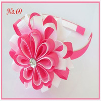 100 pcs Eight petals of cascading toothed hairpin plastic line of fabric headband hairband