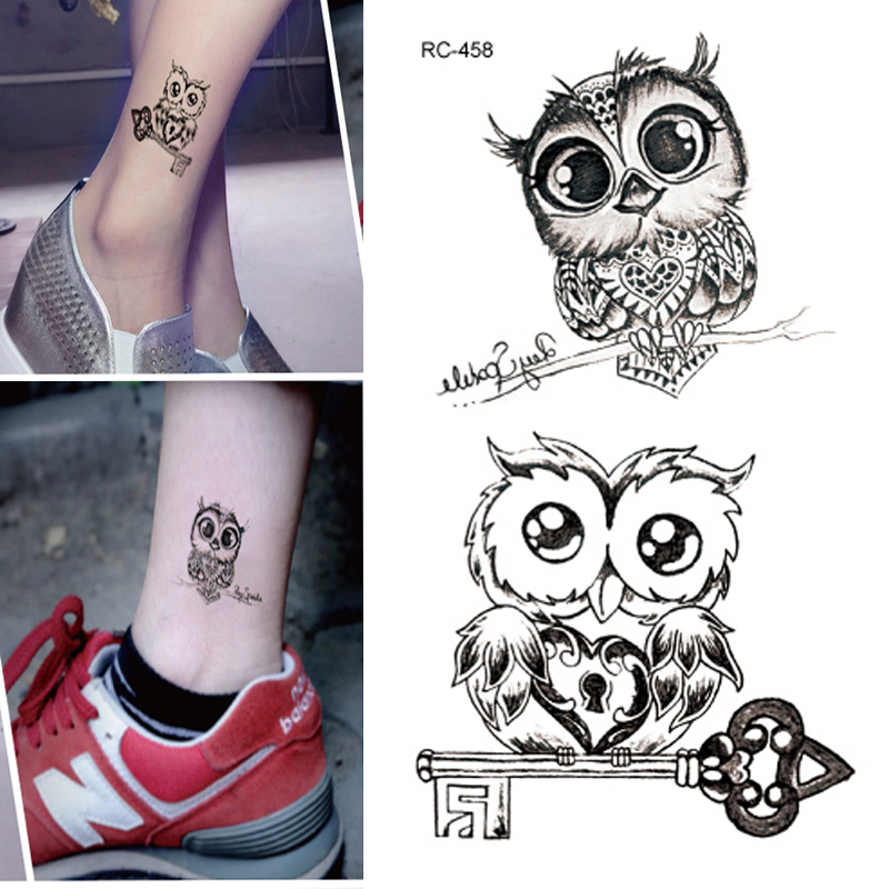 10pcs Waterproof Temporary Tattoos Sleeve Owl Fox Artificial Flowers Tattoo Many Designs Sex Men Beauty Body Art 3d Tatoo 16