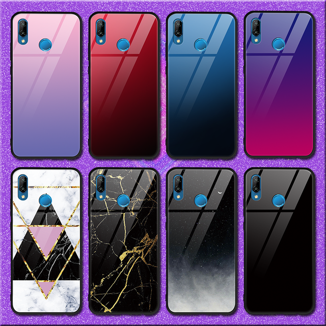 Fashion Marble TPU Glass Case For Huawei P20 Pro P10 P9 Plus Borod Mate 20 10 9 Pro Case for Huawei Mate 20 Lite Case Skin Cover