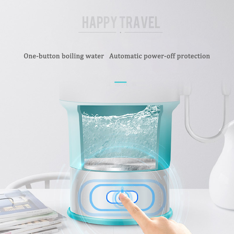 220V Electric Water Kettle Compressed Compression Folding Kettle Travel Insulation Boiling Water Auto Power-off Protection