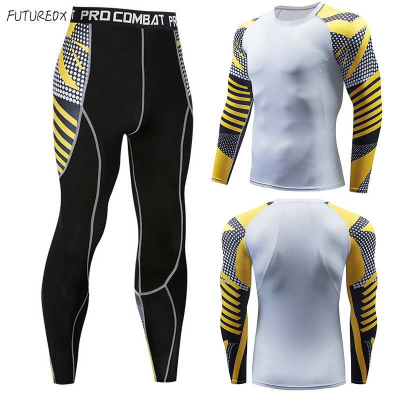 2018 New MMA Winter Men Thermal Underwear Sets Elastic Warm Fleece Long Johns For Men Polartec Breathable Thermo Underwear Suits