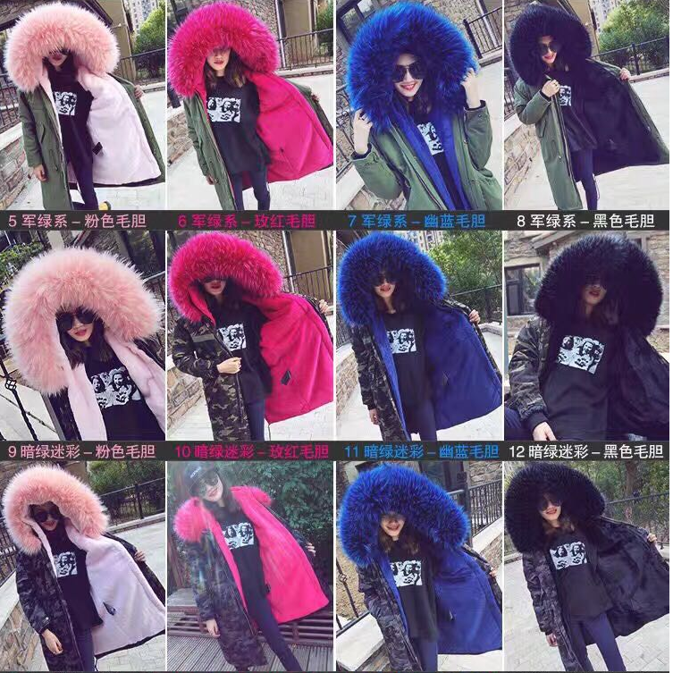 New Fashion Winter Cotton Parkas Coats 16 Colors Large Fur Collar Hooded Jackets Medium-long Thick Outwear Female Wadded Jacket new 2017 winter hooded jacket women cotton wadded overcoat medium long slim casual fashion parkas female denim blue coats cm1509