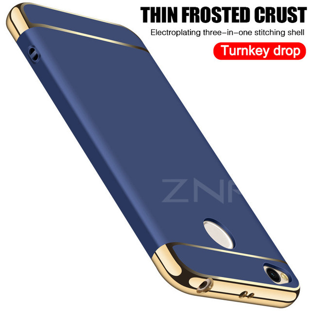ZNP Luxury Hard Back Electroplate Shockproof Cases For Xiaomi Redmi 4X Case 4X Phone Cover For Redmi 4X Case Protective shell