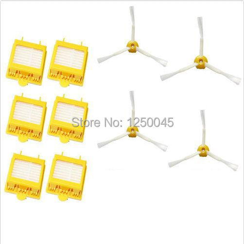 6 Filters + 4  Side Brush Armed kit for iRobot Roomba 700 Series 760 770 780 790 Free Shipping(China)