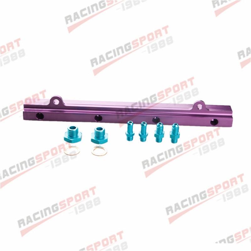 High Flow Fule Rail Kits For M-i-t-s-u-b-i-s-h-i 4G93 CNC Billet Aluminum PurpleHigh Flow Fule Rail Kits For M-i-t-s-u-b-i-s-h-i 4G93 CNC Billet Aluminum Purple