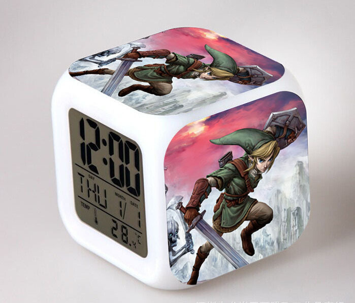 Back To Search Resultstoys & Hobbies The Legend Of Zelda Digital Alarm Clock 3d Game Action Figure Toys 7 Color Led Nightlight Cube Desktop Clock For Kids Gift