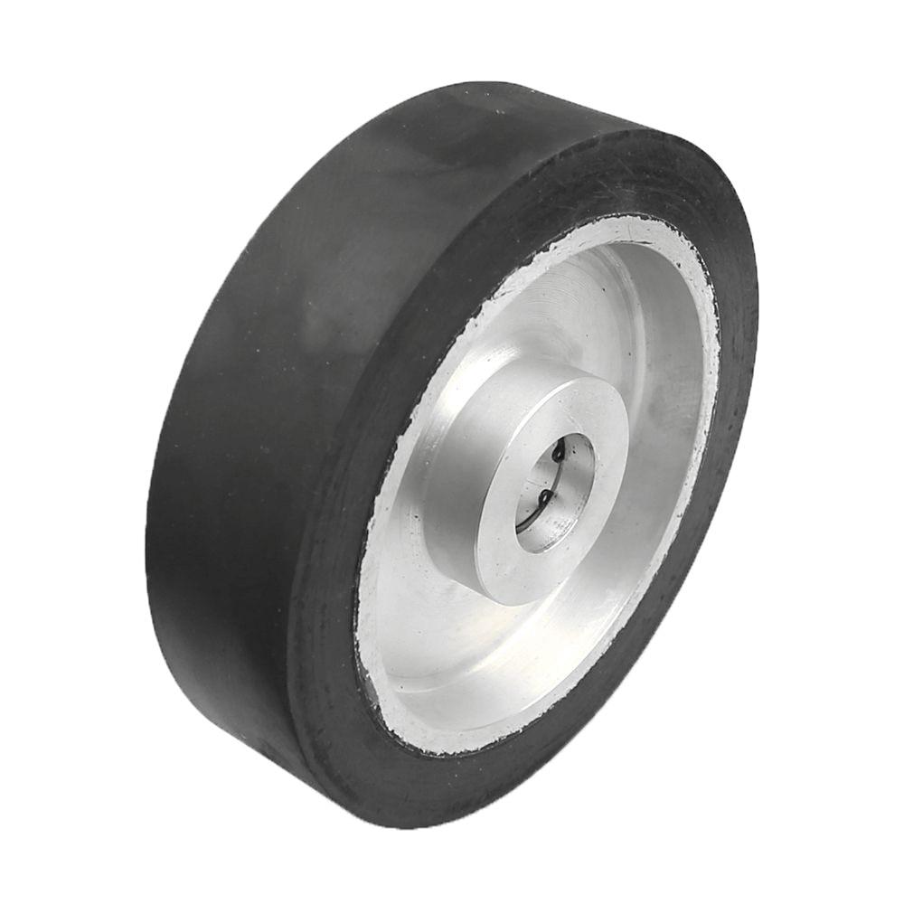200*50mm Solid Belt grinder Rubber Contact Wheel Abrasive Belts Set Inner Hole Customized