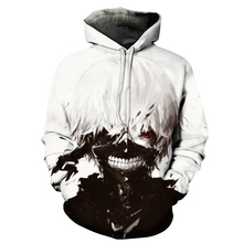 2019 New Hot Sale Tokyo Ghoul Hoodies Mens Hooded Pullovers Ken Kaneki Printed Male Hoody 3D Printing Hooded Sweatshirts