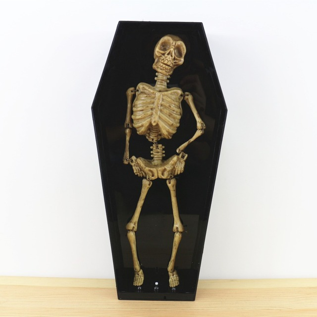 Plastic Halloween Skeletons Horror Dance Music Halloween Decorations And Props Novelty Funny Gadgets Plastic Halloween Skeletons