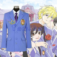 Anime Ouran High School Host Club Blazer Jacket Unisex Cosplay Coat Halloween Costumes Custom made Any Sizes Free Shipping