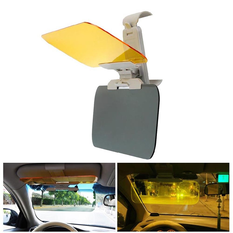 Car Sun Visor HD Car Anti-sun Dazzling Goggle Day Night Vision Driving Mirror UV Fold Flip Down HD Clear View Visor New ...