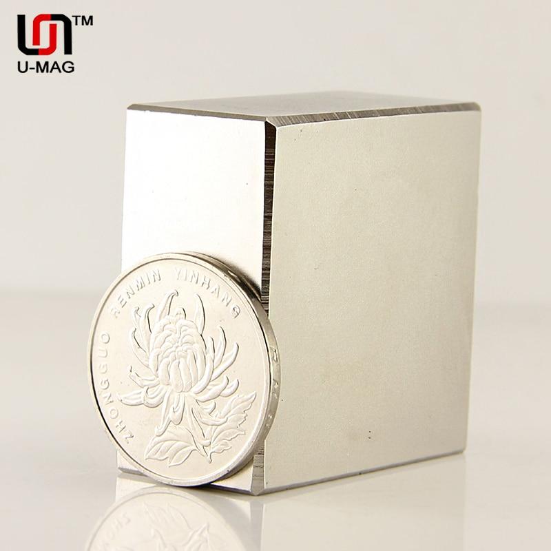 1 pz Block 40x40x20mm N52 magneti Magnete Al Neodimio Super Forte forza di trazione 85 kg alta qualità di Trasporto libero Rare Earth