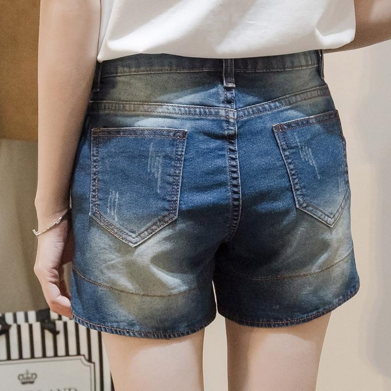 Femmes été 2017 grande taille femme stretch jean en short short dXqqwO