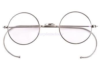 39มิลลิเมตรขนาดเล็กแสงรอบหายากขอบลวดแว่นตาตามใบสั่งแพทย์กรอบโบราณเด็กเด็ก