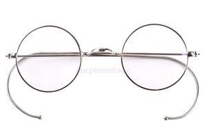 Image 1 - 39mm Kleine Runde Optische Seltene Draht Felge Rezept Brillen Rahmen Antike Kinder kinder