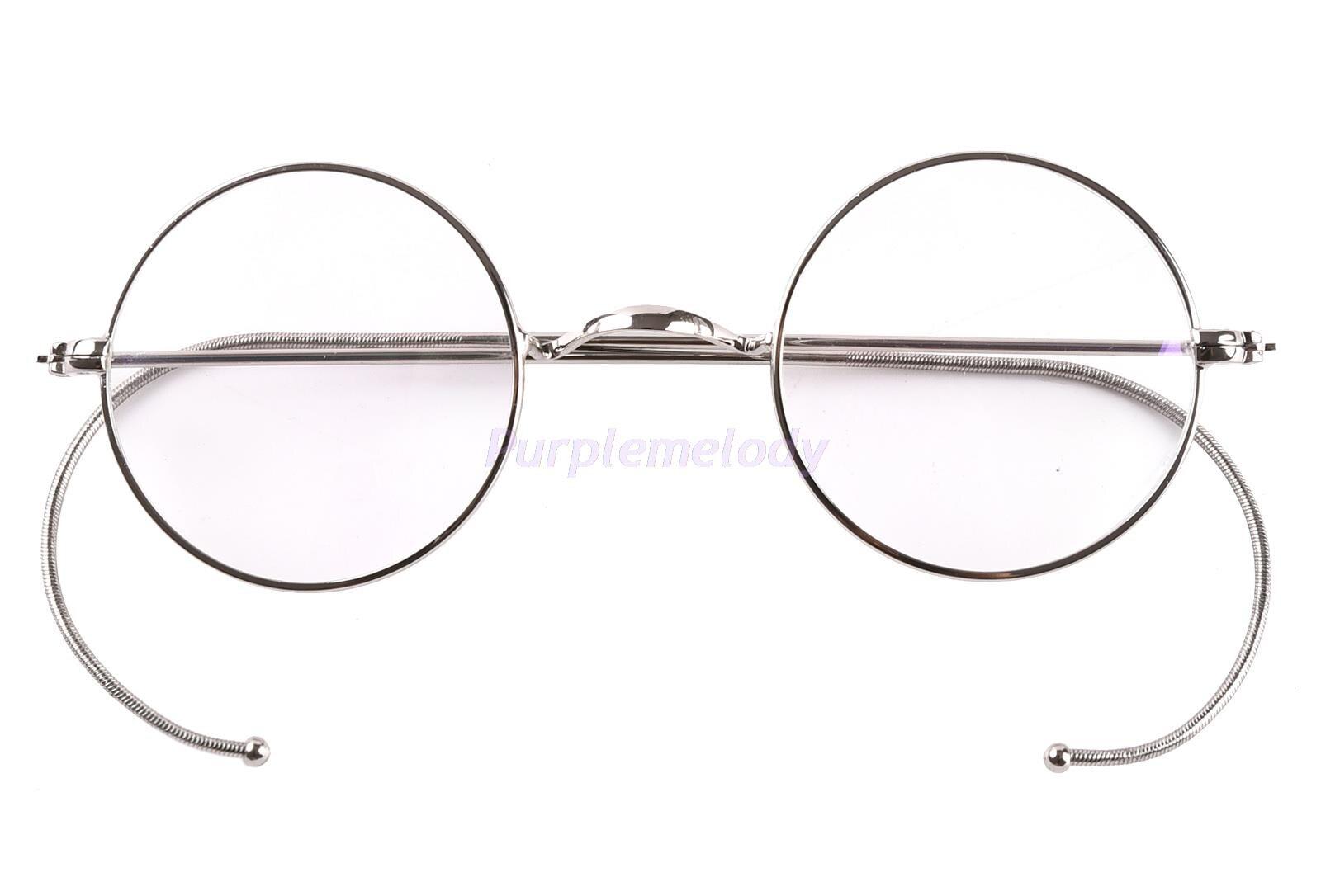 100% Wahr 39mm Kleine Runde Optischen Seltene Draht Felge Brillen Rahmen Antike Kinder Kinder