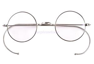 Image 1 - 39mm Small Round Optical Rare Wire Rim Prescription Eyeglasses Frame Antique Kids Childrens