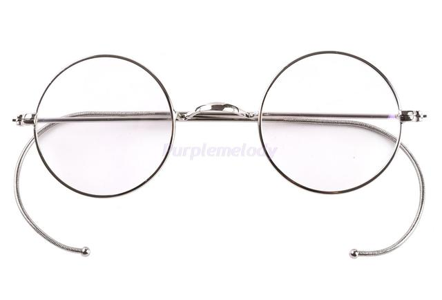 39mm Small Round Optical Rare Wire Rim Prescription Eyeglasses Frame ...