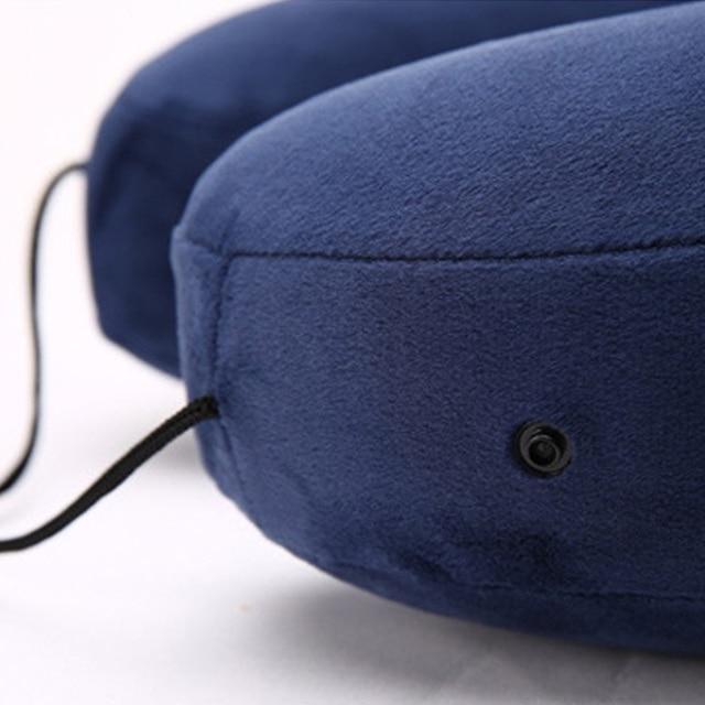 GT H Shape Inflatable Travel Pillow Air Cushion Folding Lightweight Nap Neck Pillow Car Seat office Airplane sleeping Cushion 4