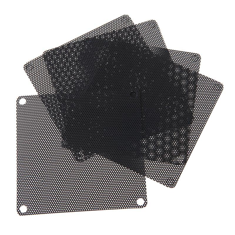 5PCS PVC Fan Dust Filter PC Dustproof Case Cuttable Computer 80mm Mesh Black Nylon Plastic