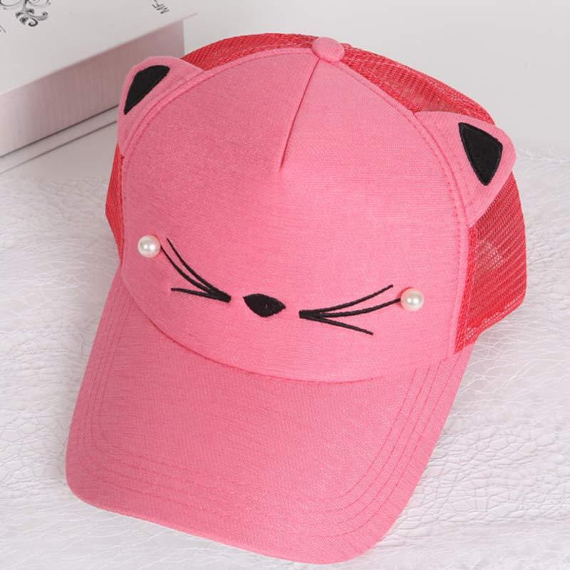 TCJX Watermelon Adorable Mesh Baseball Caps Girls Adjustable Trucker Hat Sky Blue