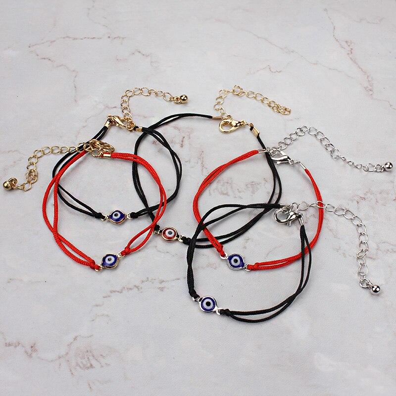 free shipping! red string blue evil eye simple cheap bracelet fashion bracelet for women
