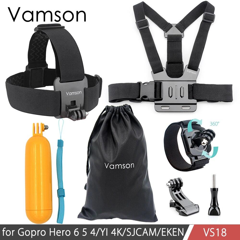 Vamson Chest Strap Floaty Bobber Monopod Head Belt Mount For Gopro Hero 5 4 3 For SJCAM for Xiaomi Camera Accessories VS18