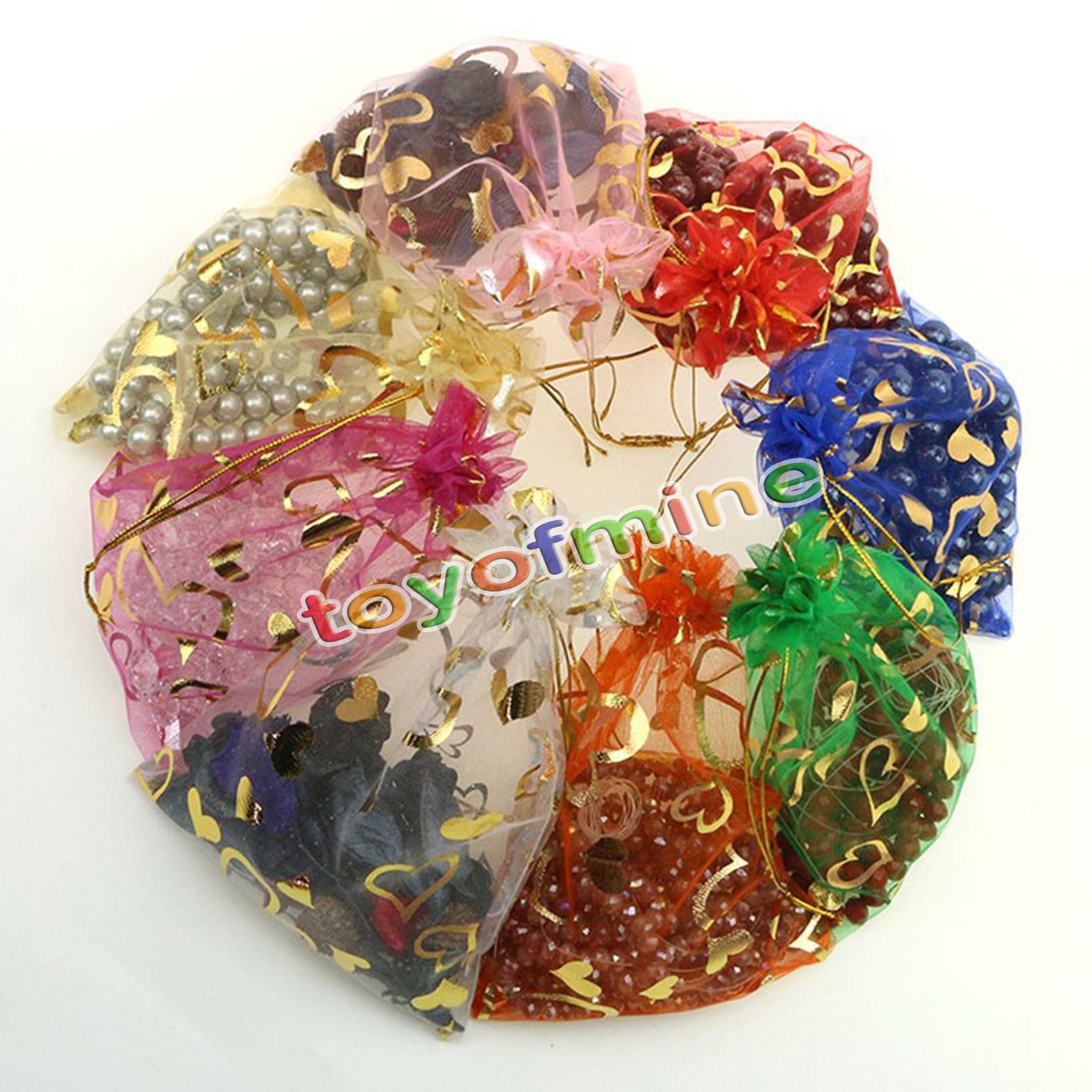50pcs lot wholesale organza bags 9x12 cm wedding pouches