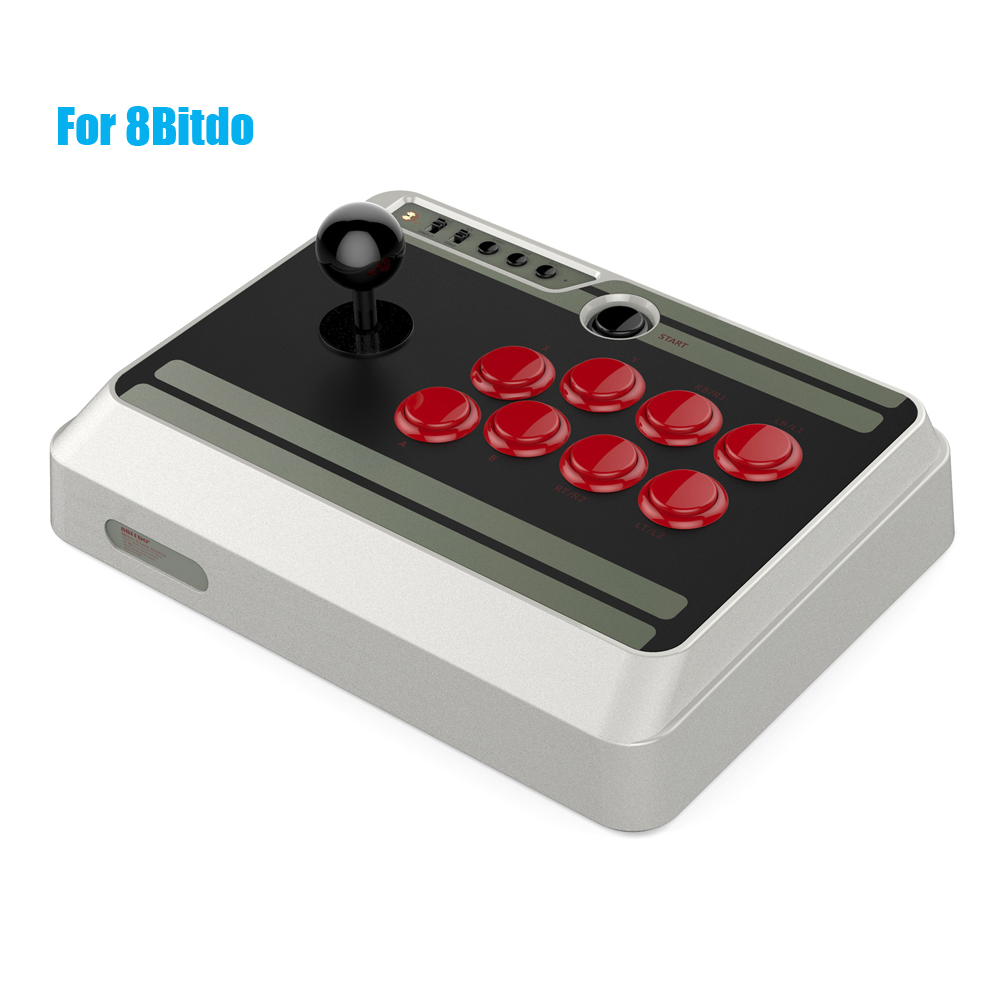 2PCS For 8Bitdo N-ES30 Wireless Bluetooth Gamepad Customizable Bluetooth Arcade Game Stick Joystick for iOS Android magicsee r1 bluetooth 4 0 wireless gamepad for ios android
