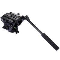 PULUZ Video Tripod Başkanı ve Quick Release DSLR için Sürgülü Plaka & monopod Monod Tripod Kaymak Video Film SLR Kameralar için kafa ateş