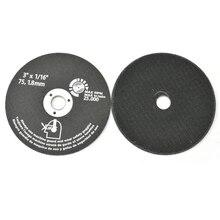 """10 חתיכות 3 """"75mm חיתוך דיסקים שרף שוחקים טחינת גלגל כרסום חותך עבור מתכת"""