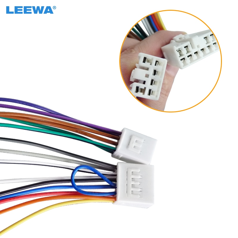 Leewa Car Audio Stereo Wiring Harness Adapter Plug For Toyota  Scion Factory Oem Radio Cd  Dvd