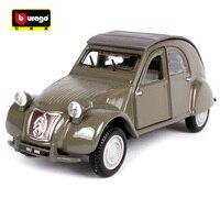 Bburago 1:32 1952 Citroen 2CV Retro Classic Car Diecast Model Car Toy New In Box Free Shipping Vintage car 43203