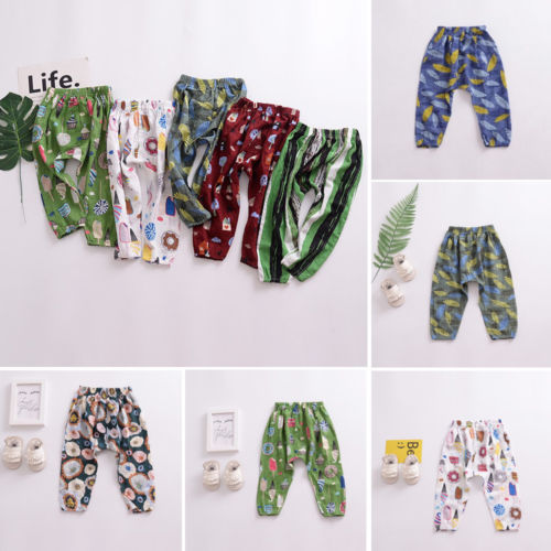 1a5c85d85b266a Pudcoco New Kids Baby Summer Mosquito-proof Trousers Floral Pants Toddler  Baby Boy Girl Casual