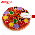 Simingyou Educational Toys Letinous Edodes Pizza To See Kids Kitchen 3D Puzzle Toys  For Children WRB93